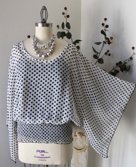 New+Polka+Dot+Plus+size+Tunic+top+in+1XL+2XL+3XL+by+Dare2bStylish,+$29.00
