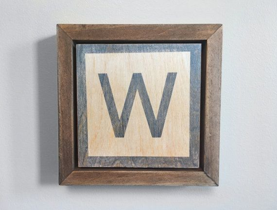 Chicago Cubs W Fly The W Letter Block Alphabet By Echoartistry