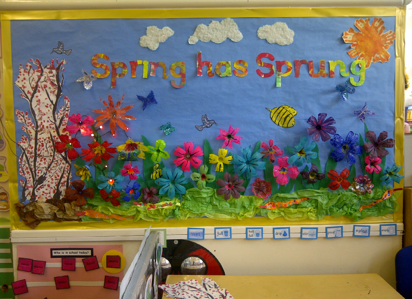 spring bulletin board ideas has sprung classroom display photo sparklebox 5470
