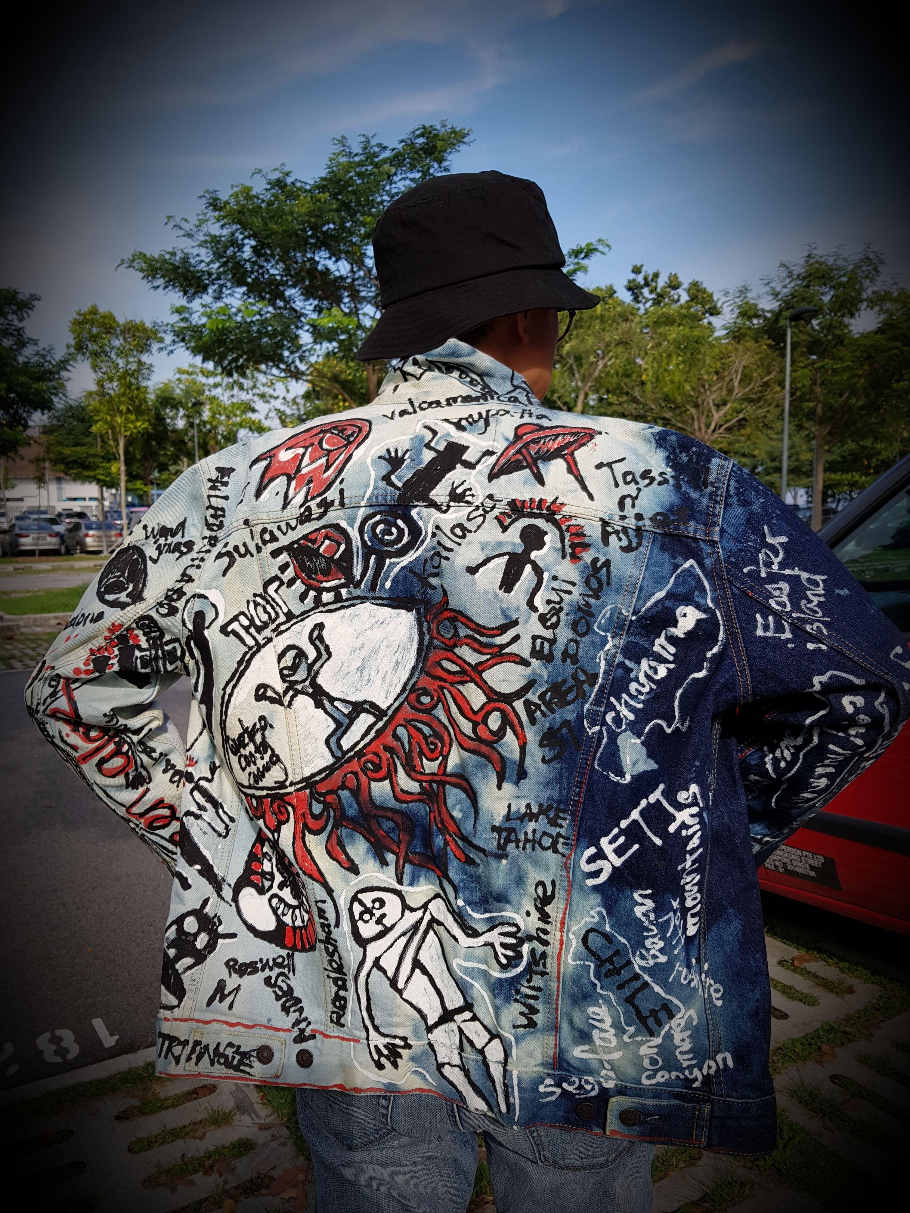 Graffiti Artwear Denim Jacket Denim Jacket Denim Design Artwear [ 4032 x 3024 Pixel ]
