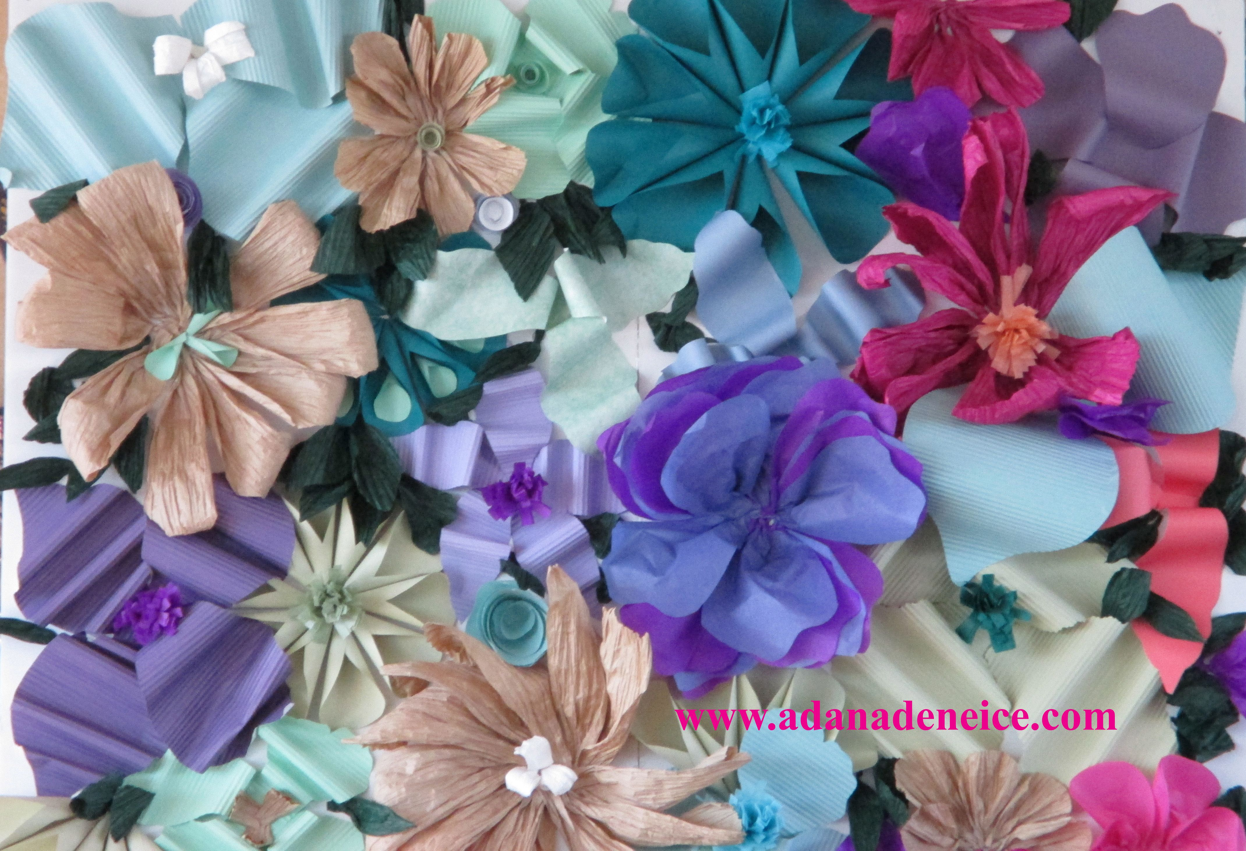 Paper Flowers On Foam Core For A Photo Booth Backdrop At A Wedding