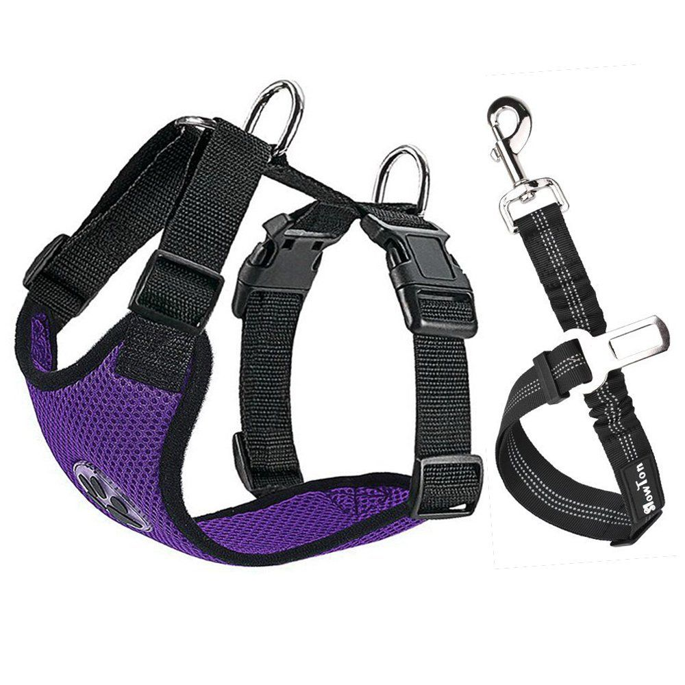 Slowton Dog Car Harness Plus Connector Strap Multifunction