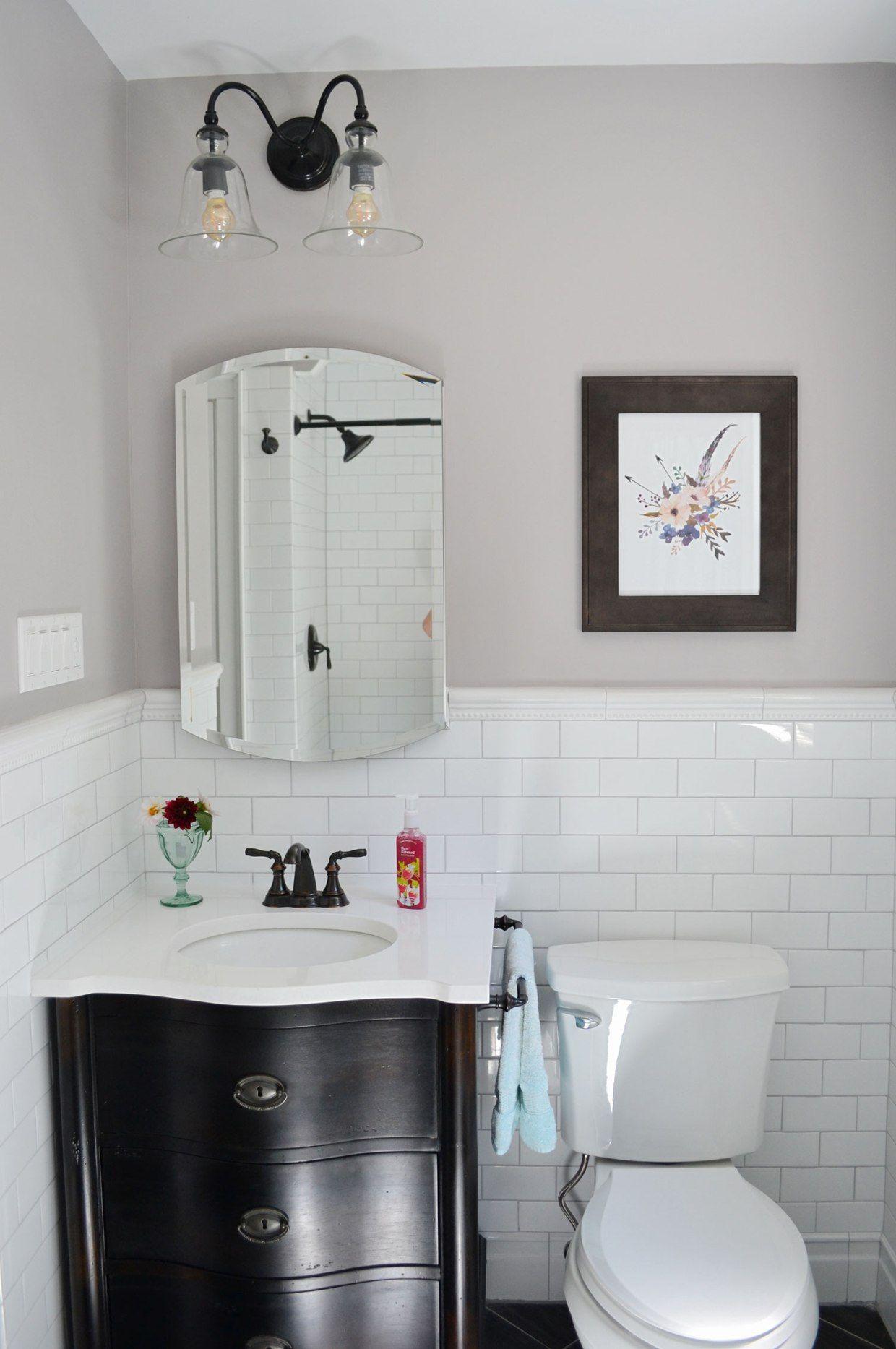 1930s Bathroom Remodel – Reveal | Pinterest | White subway tile ...
