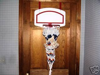 Basketball Hoop Over Door Hamper. You Could Even Make Your Own. Perhaps  Less Clothes On The Ground In Kids Room?