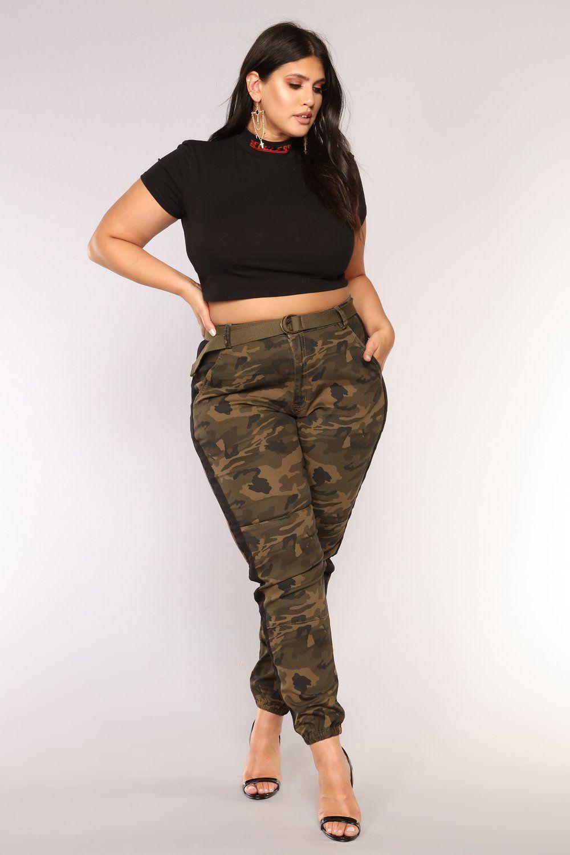 62f50932059e Cadet Kourtney Oversized Camo Pants - Olive Black in 2019
