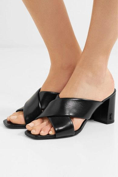 24a900425b5e SAINT LAURENT fancy Loulou leather mules in 2019