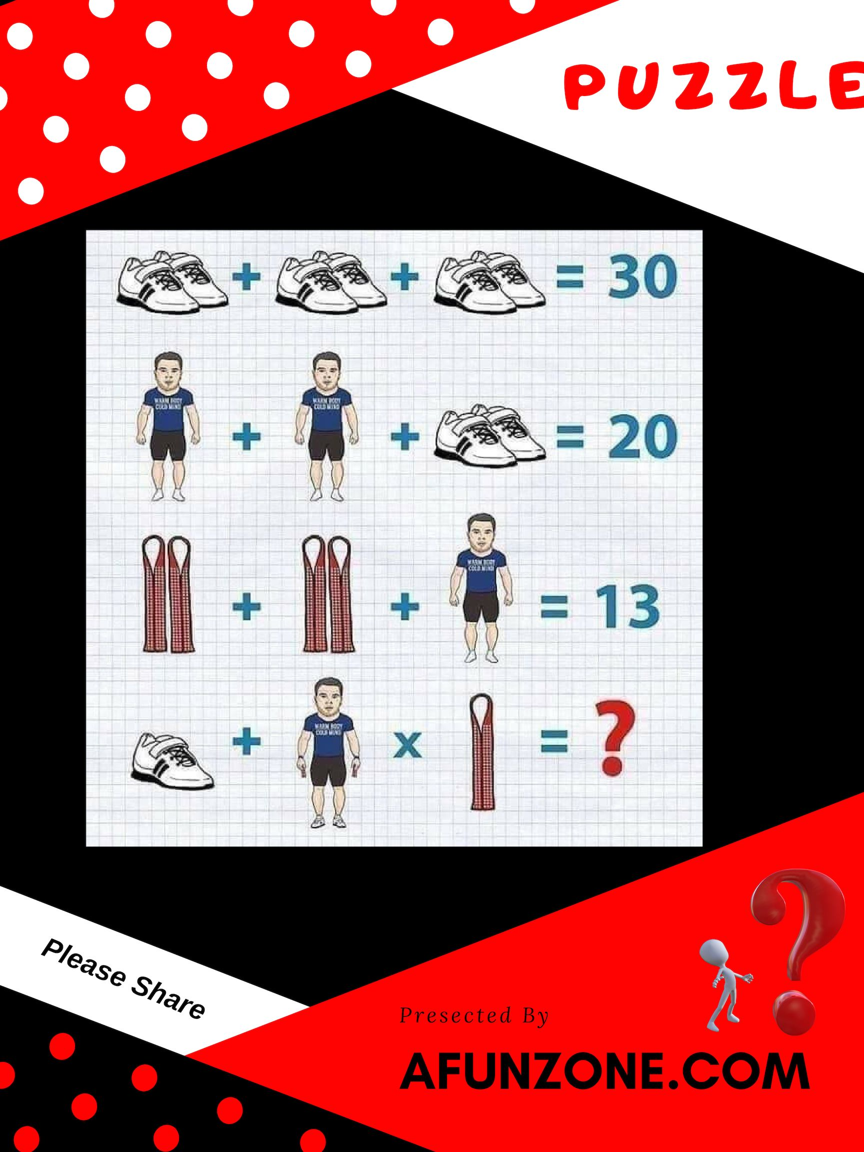 Today S Featured Puzzle Picture Math Problem Maths Puzzles Math Pictures Math Puzzles Brain Teasers