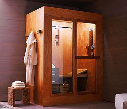 Wooden sauna shower and steam combo What bodysystems product to
