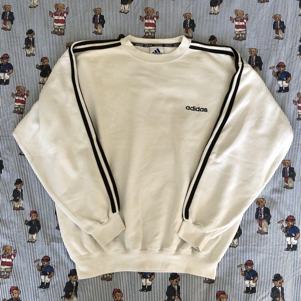 Vintage 90's White Adidas Sweatshirt </div>                                   </div> </div>       </div>                      </div> <div class=