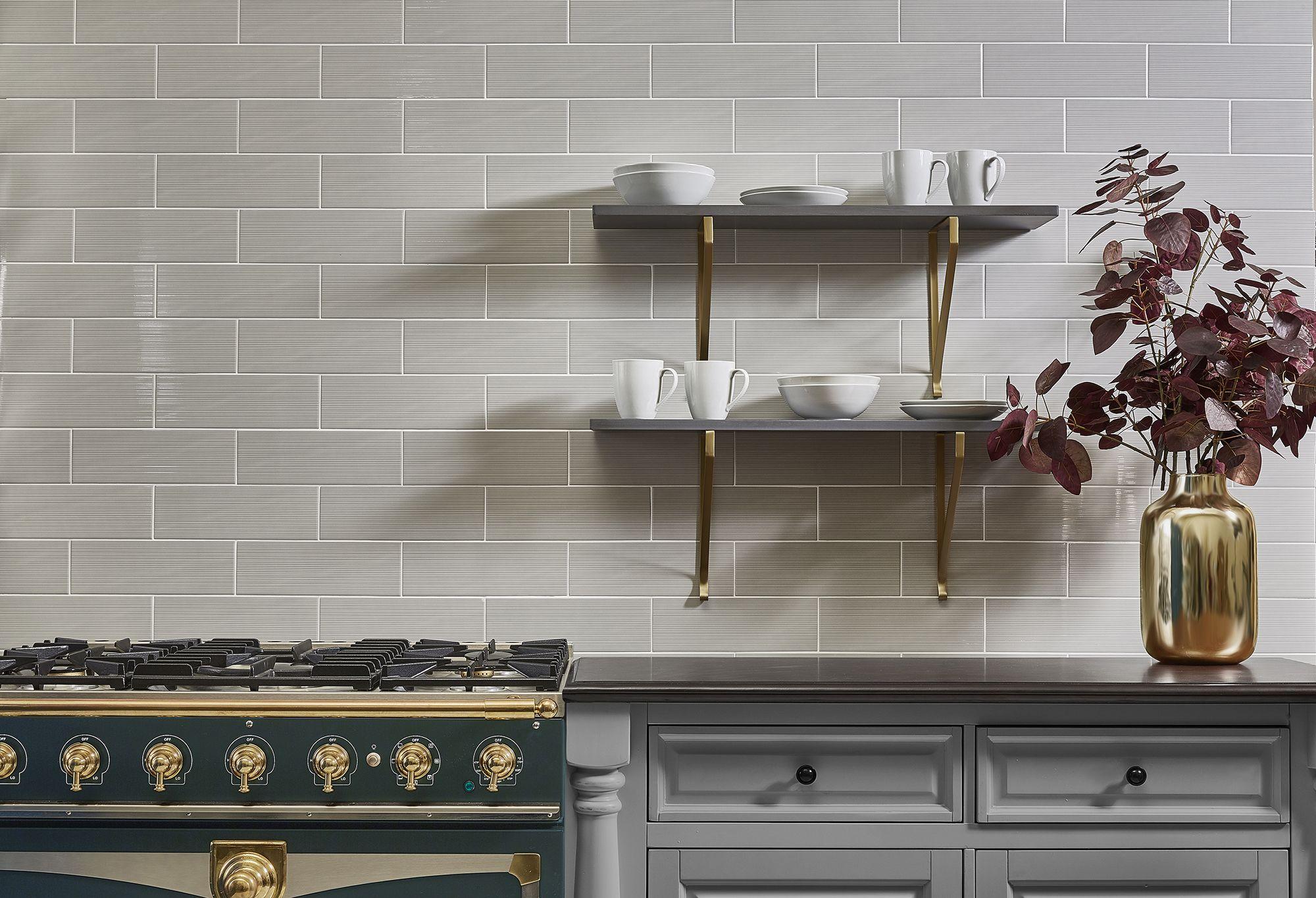 Akdo Tile In Impressions Combed In Spring Rain Grey Tile Textured Tile Kitchen Backsplash Akdo Tile Akdo Kitchen Tiles