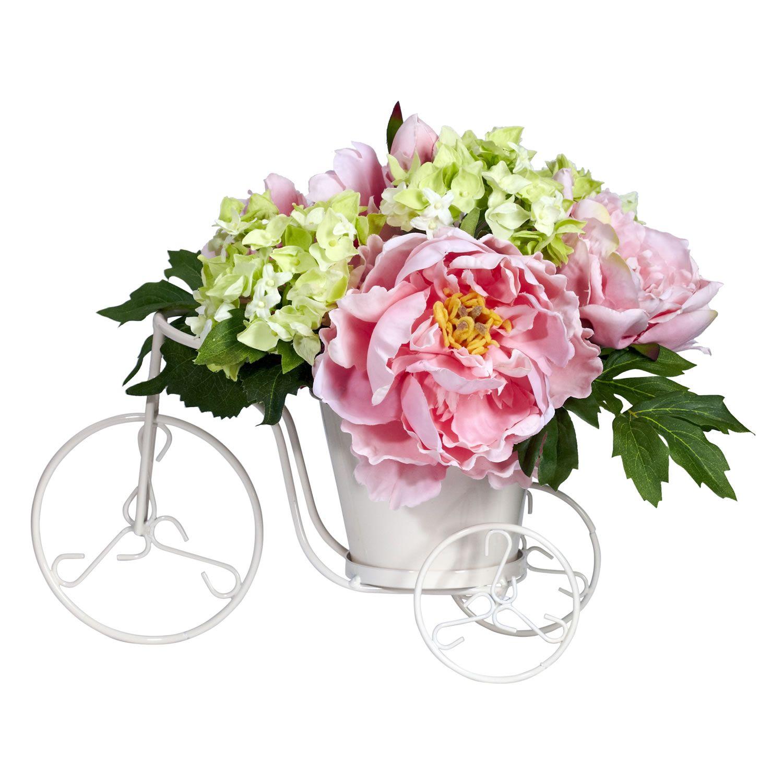 Peony hydrangea tricycle silk flower arrangement flower peony hydrangea tricycle silk flower arrangement mightylinksfo