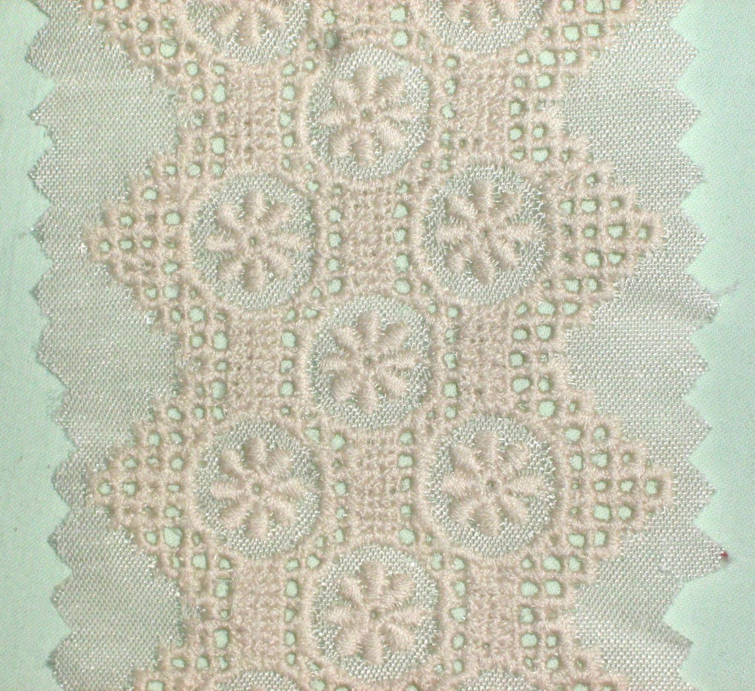1e0aa978d 1 YARD - Vintage Cutwork Embroidery Lace Trim, Border or Insert, 2 ...
