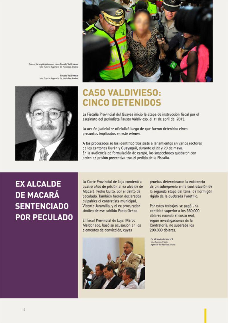 Caso Valdivieso: Cinco Detenidos Asesinato Fausto Valdivieso, 11/04/2013