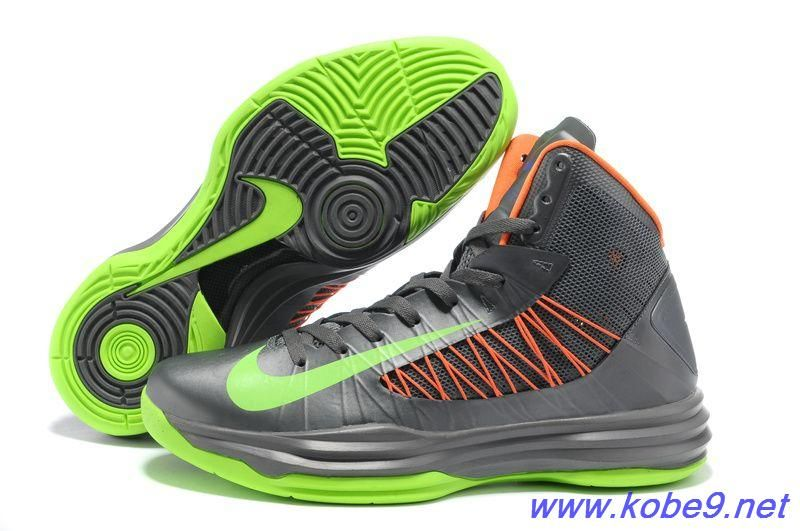 9ff4de54804 Cheap Nike 2013 Womens Lunar Hyperdunk Grey Green Orange Basketball Shoes  For Wholesale