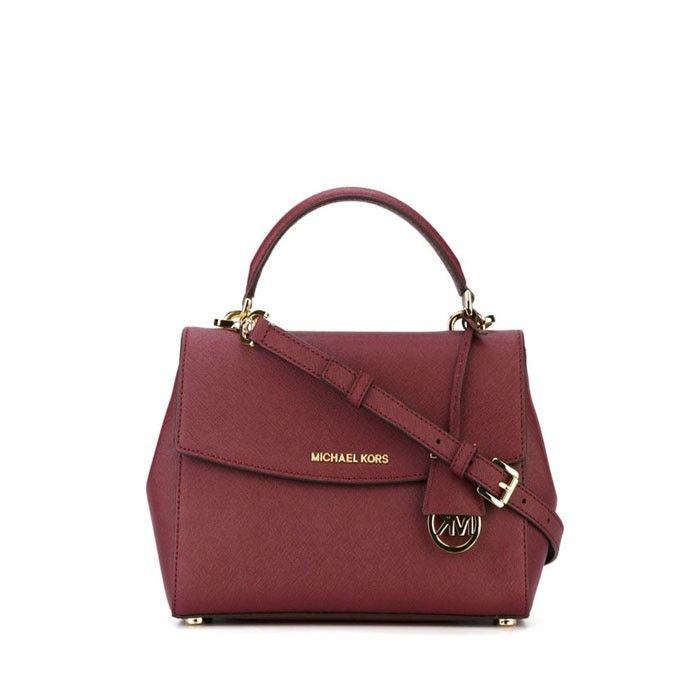 dee54be54801 MICHAEL Michael Kors Ava Extra-Small Saffiano Leather Crossbody Bag Burgundy