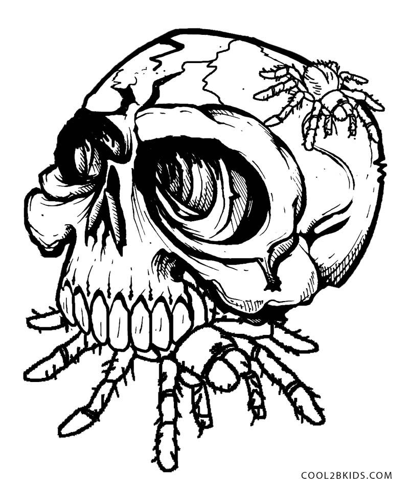 Printable Skulls Coloring Pages For Kids | Cool2bKids | Adult ...