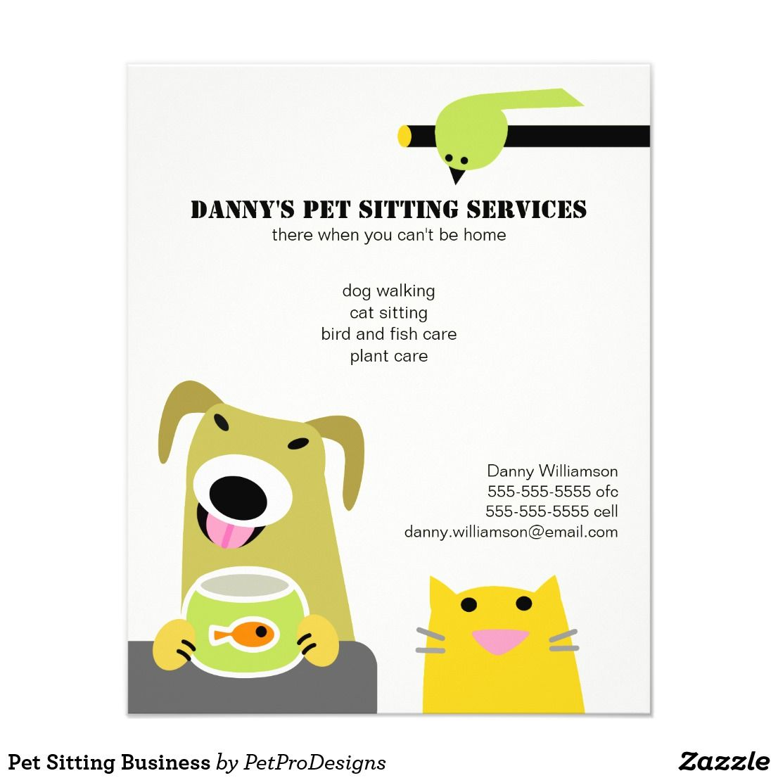 Pet Sitting Business Flyer Zazzle Com Pet Sitting Business
