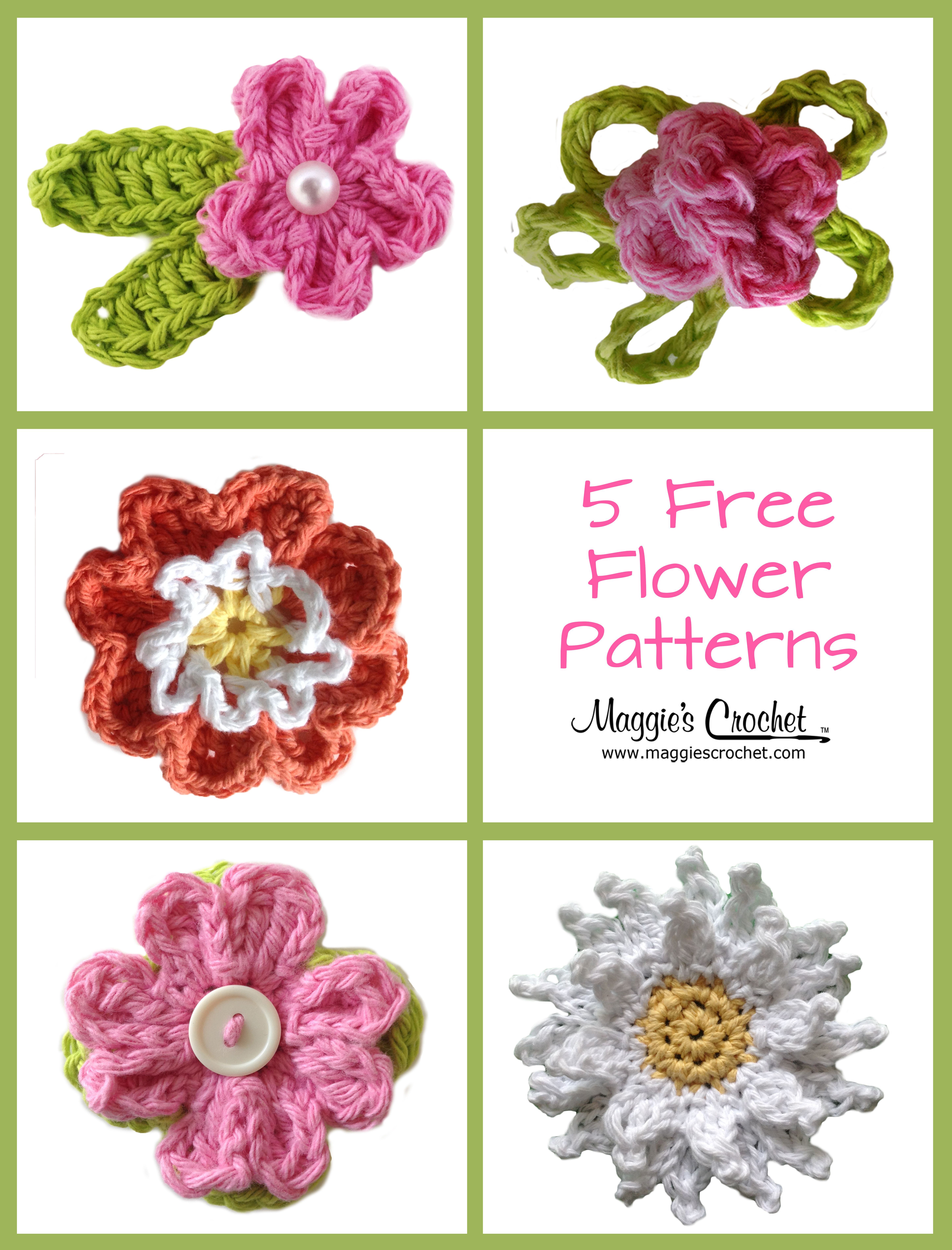 Mother\'s Day – Five Free Crochet Flower Patterns : Maggie\'s ...