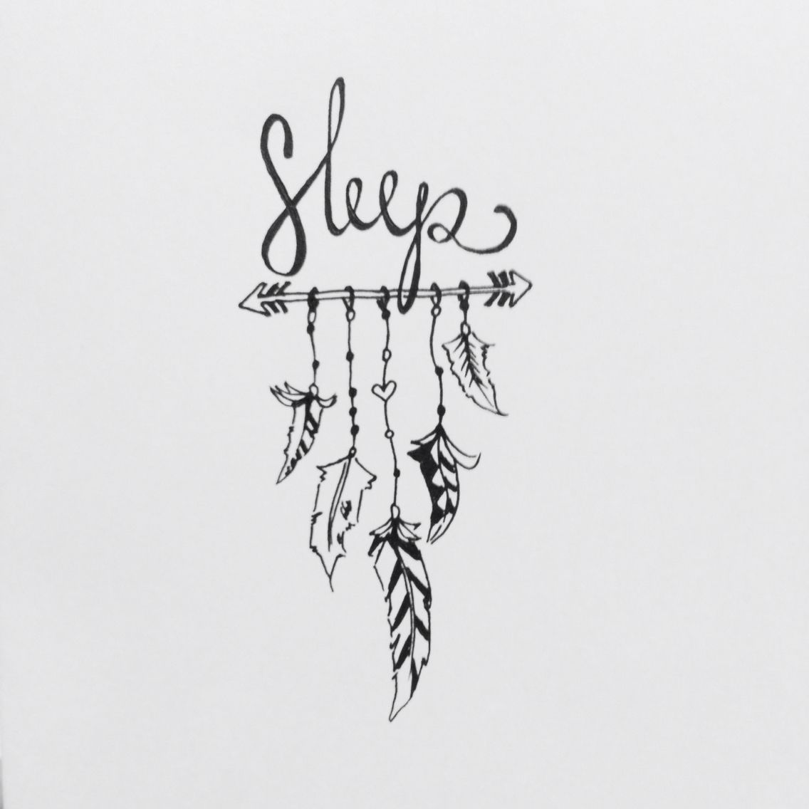 There are days when all i need is sleep calligraphy