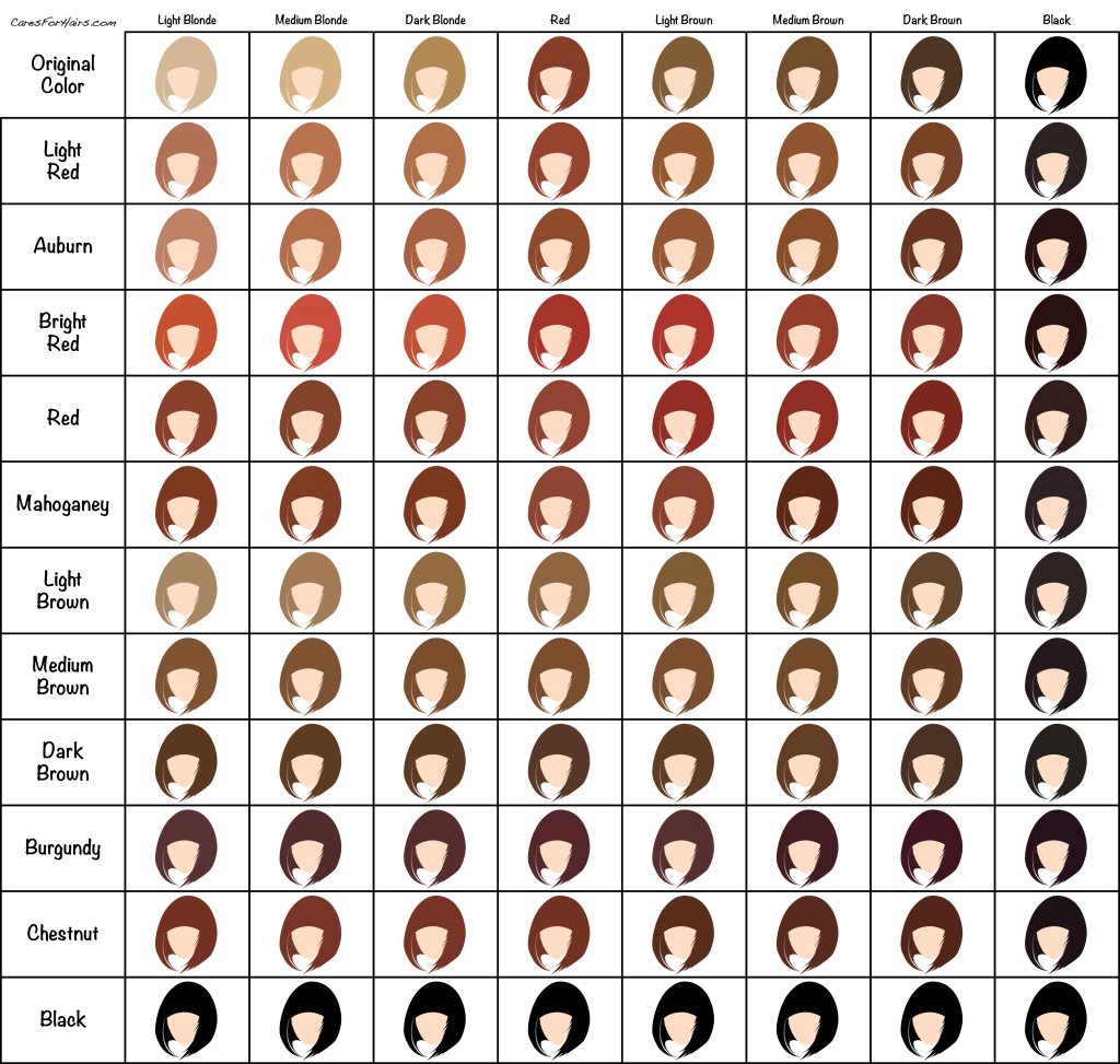 Henna hair dye color chart hair pinterest hair dyed hair and