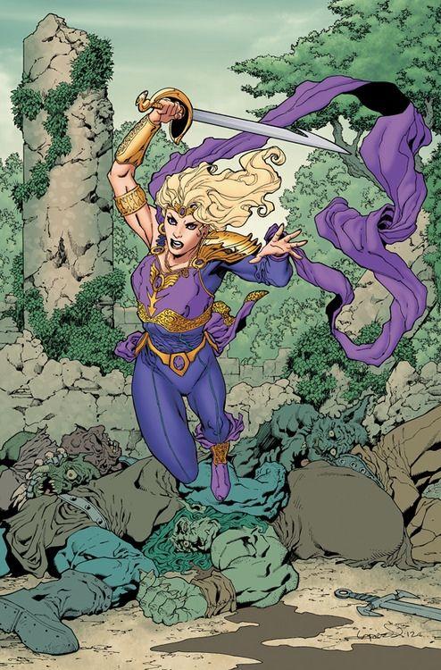 Amethyst, Sword & Sorcery Cover Girl.
