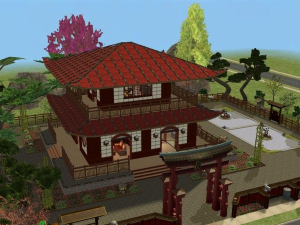 mod the sims taki zen house japanese pagoda asian sims 2 lots pinterest japanese pagoda and sims