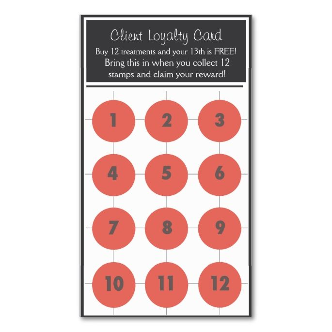 Salon Loyalty Business Card Stamp Card Zazzle Com In 2021 Loyalty Card Template Customer Loyalty Cards Stamp Card Design