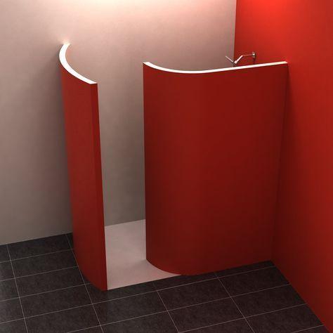 WalkIn 3 180x110 cm Gemauerte dusche, Walk in dusche