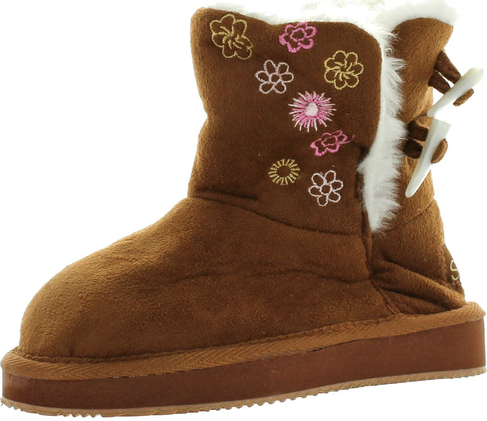 Camel Color Two Layer Faux Fur Booties Kids Girls Winter Boots Toddlers Size 7