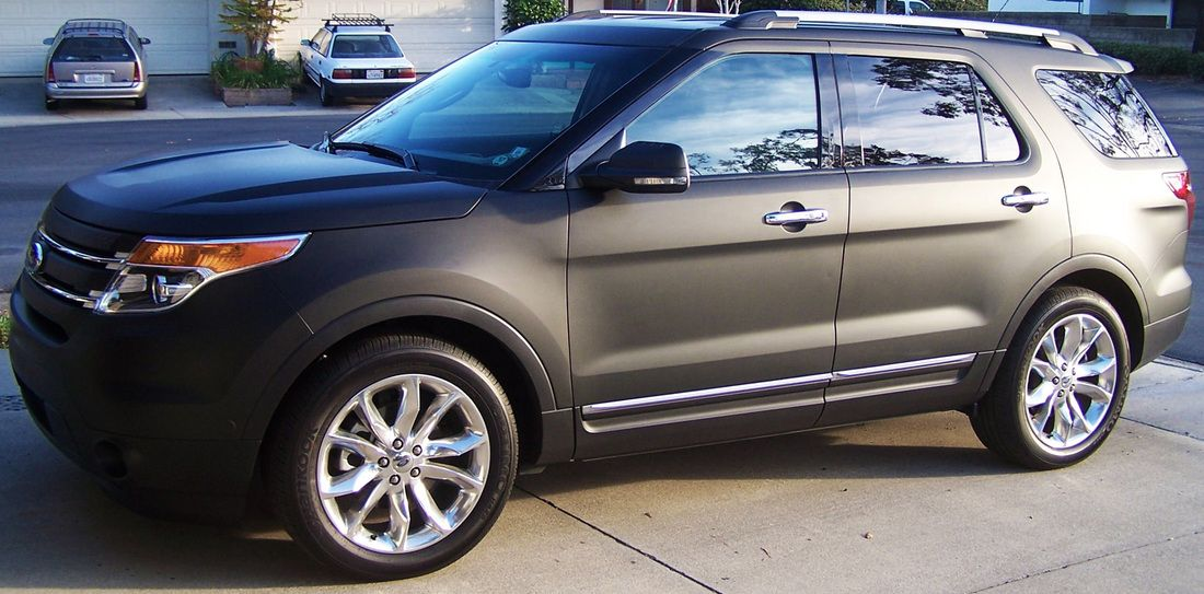 Matte Black Ford Explorer Ford Explorer Ford Luxury Cars