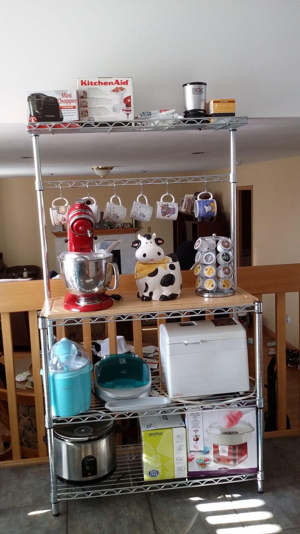Basics Wood Baker S Rack Bakers Rack Appliances Storage Rack