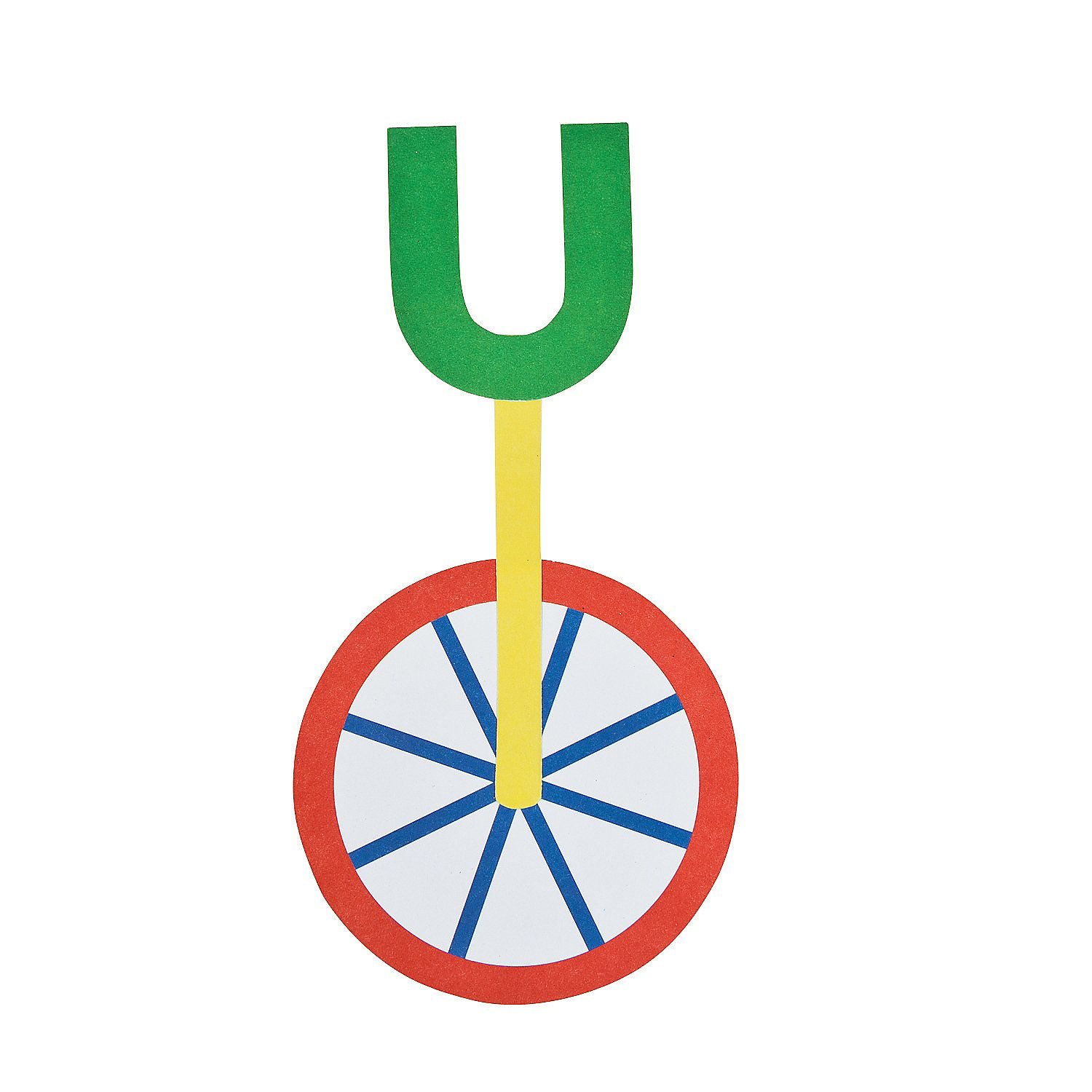 U Is For Unicycle Letter U Craft Kit