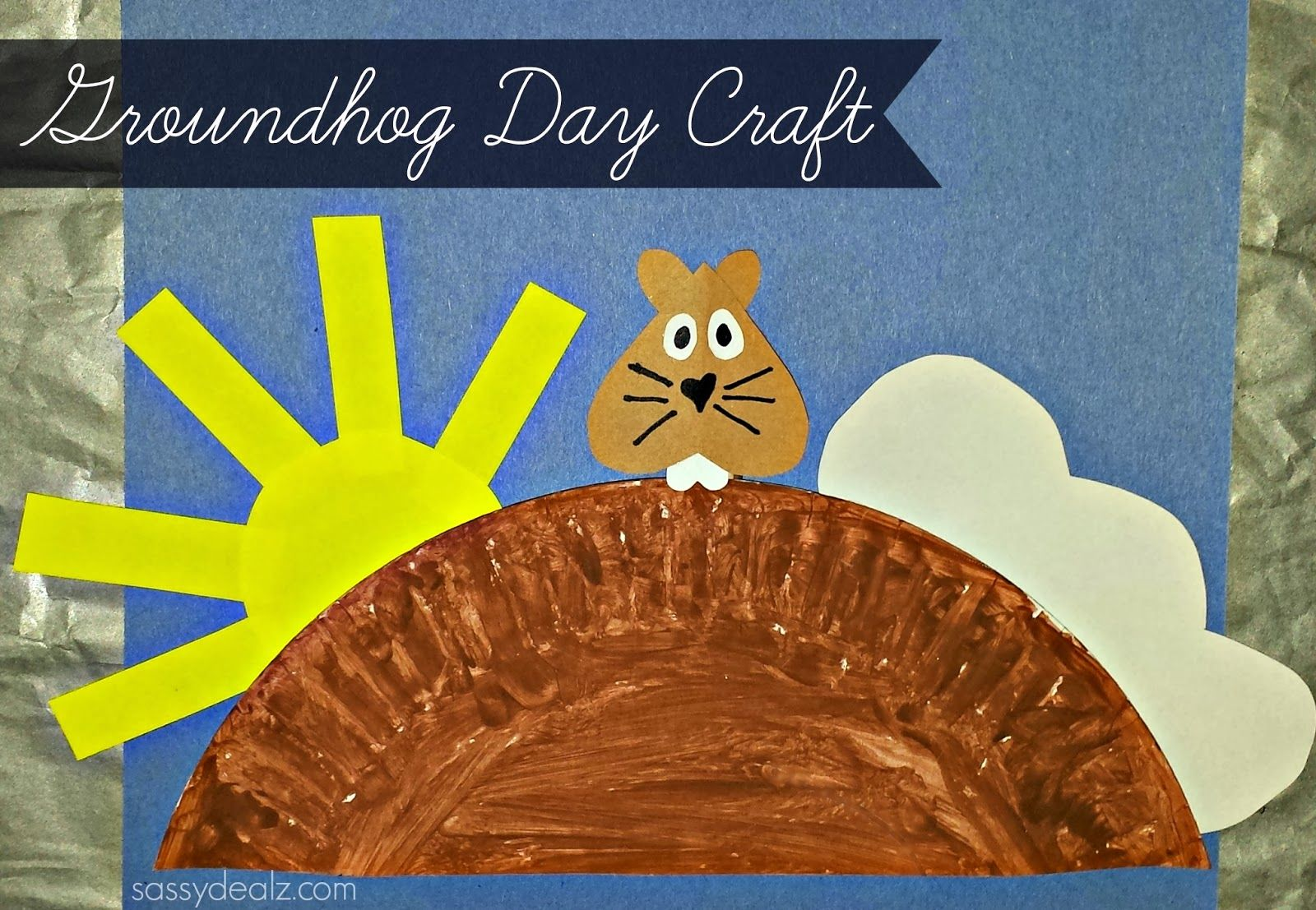 Groundhog day craft for kids paper plate cheap shadow - Sassydeals com ...