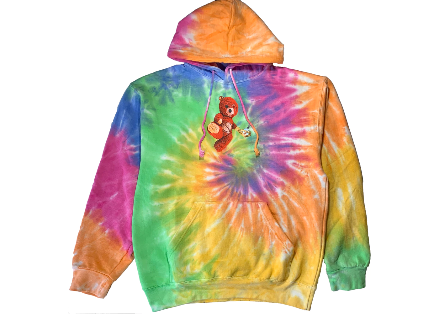 Supreme Patchwork Tie Dye Hooded Sweatshirt Tie Dye Bear Hoodie Travis Scott Hoodies [ 1000 x 1400 Pixel ]