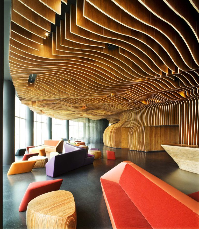 Front Of House Theatre Design Part - 41: Genexis Theater, Fusionopolis In Singapore, Designed By ARUP And WOHA  Architects, Was Awarded Design Of The Year For The Presidentu0027s Design Award  At The ...