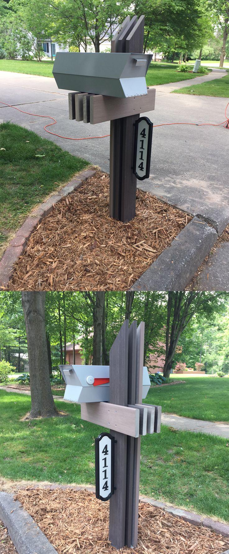 Creative way to customize a modbox!   Modern mailbox, Mid ...