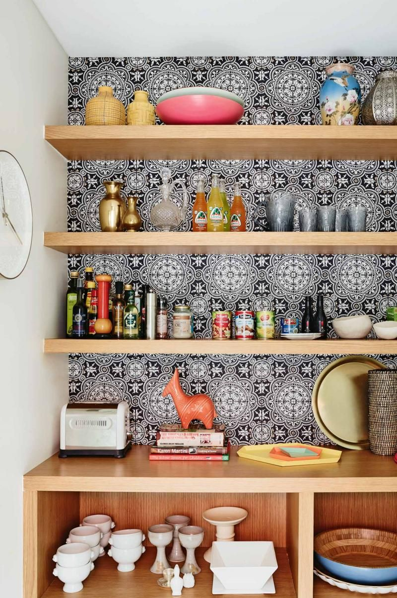 Kitchen Timber Shelves Wallpaper Feb15 Kitchen Pantry Design