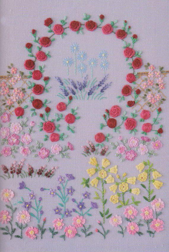 Pdf Pattern Tutorial Hand Embroidery Stitch My Garden 003 Nhliebe