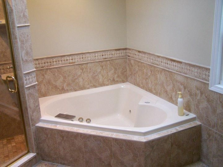 Corner Garden Tub | Corner Whirlpool Remodeled Design Large Garden Tub  Installation 554
