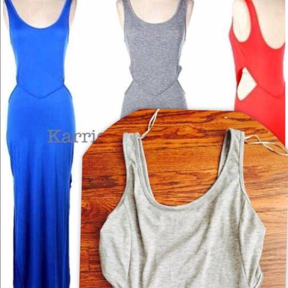 Karrie Bradshaw | Dresses | Grey  | Cutout Maxi Dress Grey Cutout Sides Karrie Bradshaw On Sugar Dresses
