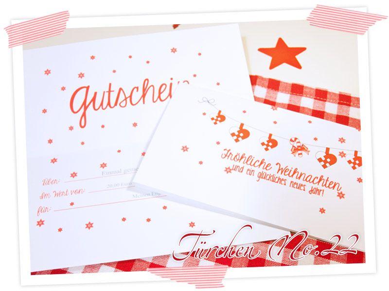 Adventskalender Türchen Nr. 22: Last Minute Geschenk – Gutscheine ...