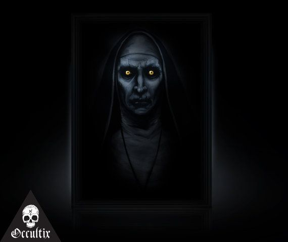 valak demon the conjuring 2 painting canvas print by