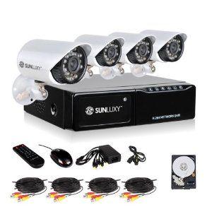 Sunluxy Cctv 4 Channel H 264 Dvr Recorder 600tvl Cmos Outdoor