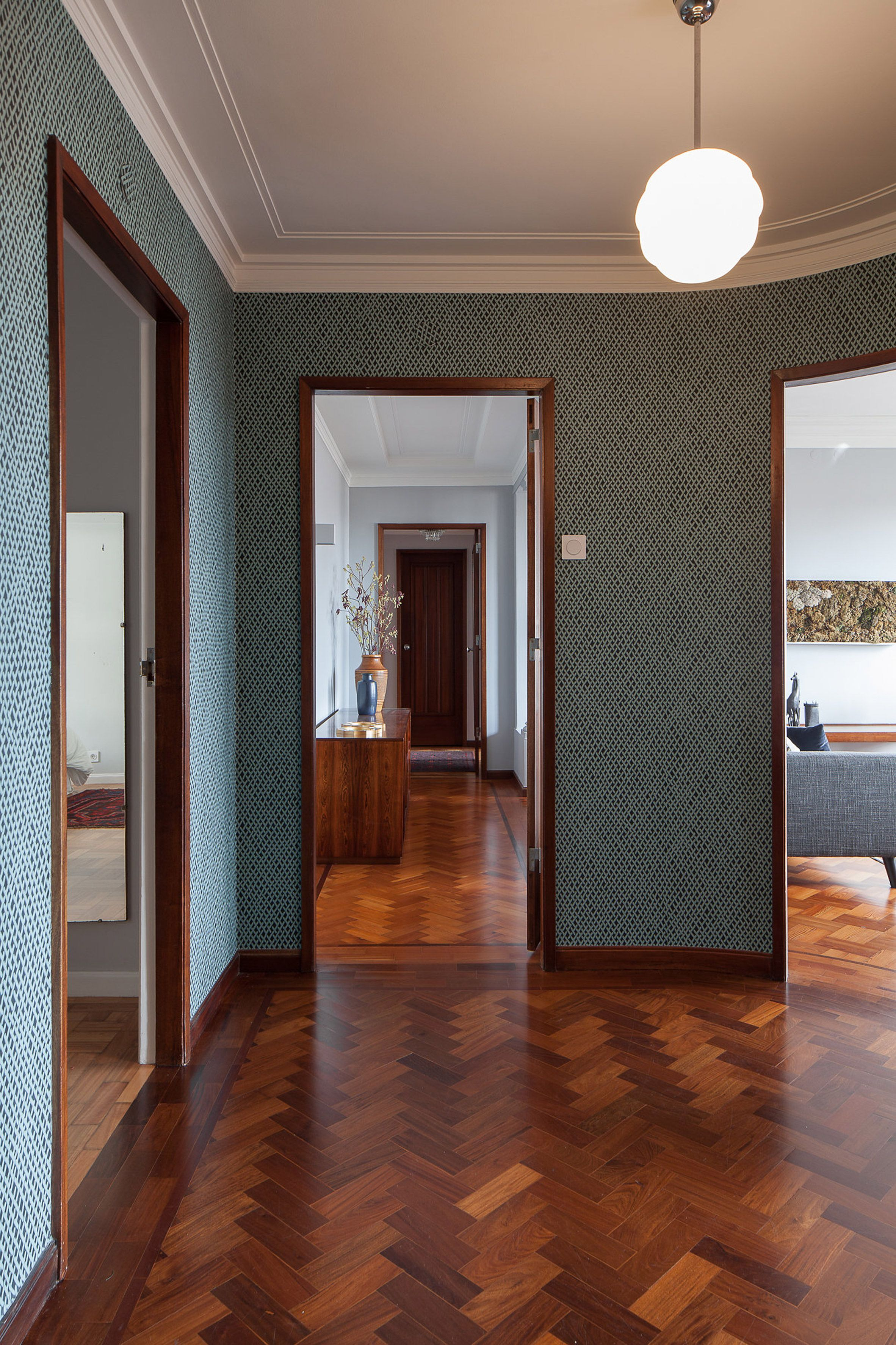 1930s hallway decorating ideas  Dazzling Apartments with Retro Interiors in s Porto Building