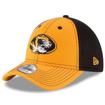 e0ffdbd632e Men s New Era Gold Black Missouri Tigers Team Front Neo 39THIRTY Flex Hat