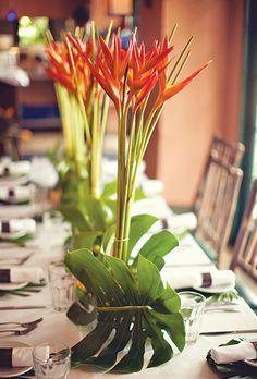 Tropical Centerpiece Gina S 50th Birthday Pinterest Blumen