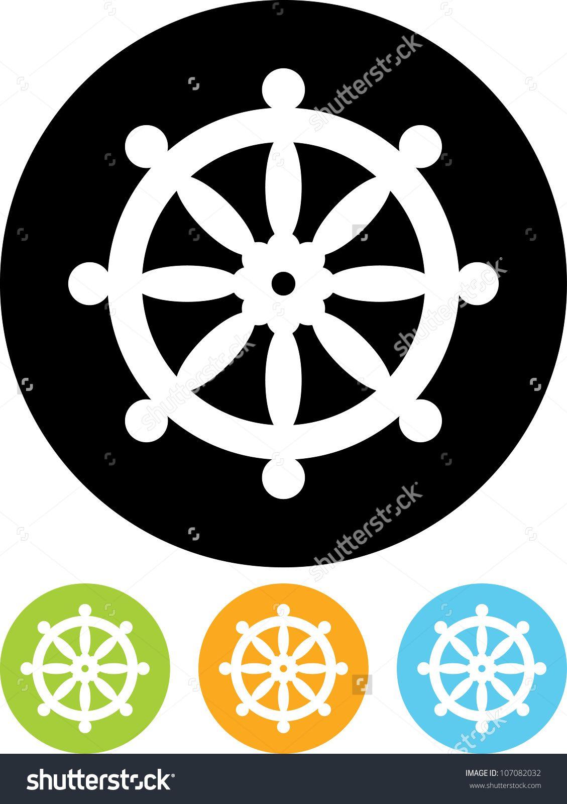 Stock vector buddhist wheel symbol vector icon isolated 107082032 illustration of dharma wheel buddha buddhism religion symbol vector art clipart and stock vectors buycottarizona Image collections
