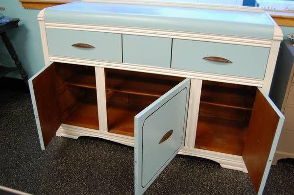 Beautiful Vintage Blue Sideboard Buffet Credenza Blue Sideboards Sideboard Buffet Decor