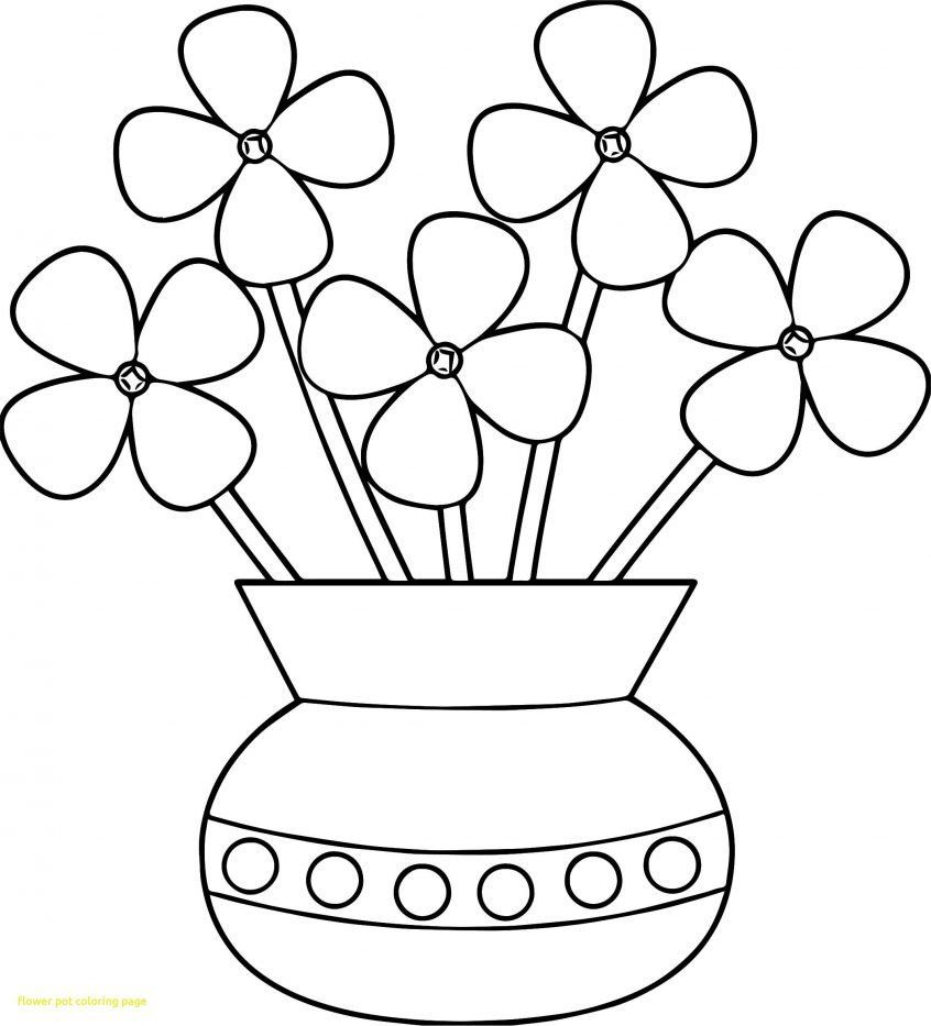 Flower Pot Coloring Page Awesome Simple But Cool Flower Coloring Pages Album Printable Flower Coloring Pages Flower Coloring Pages Flower Coloring Sheets