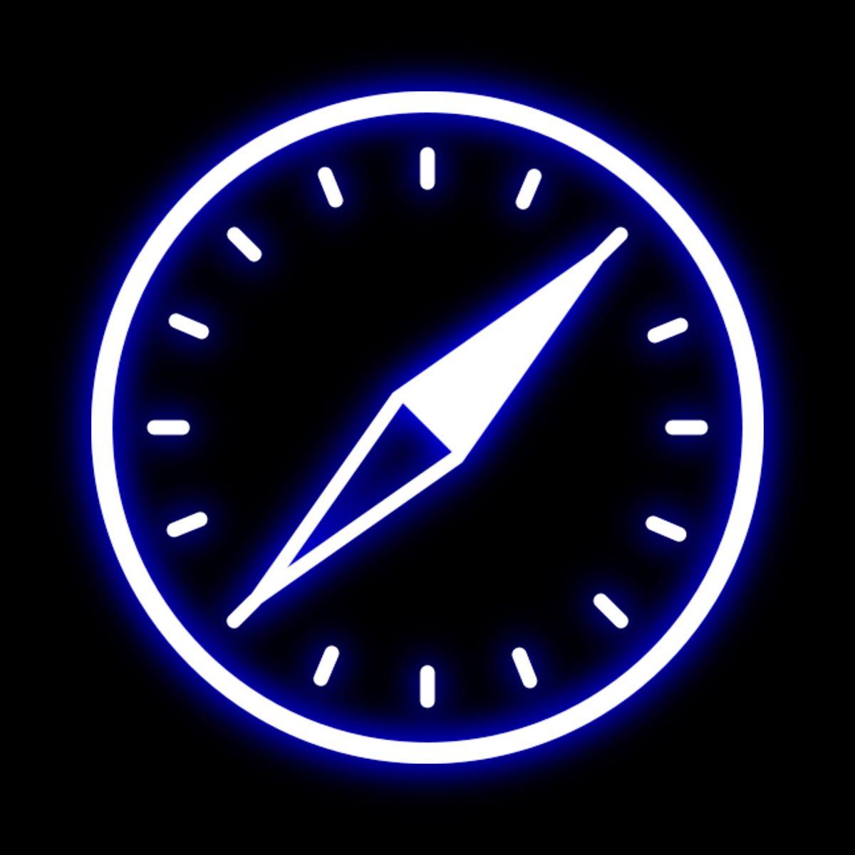 Safari neon icon